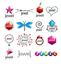 Collection of logos jewelry vector