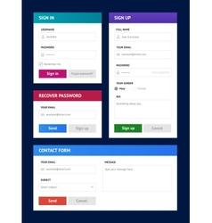 Minimalist user interfaces in metro style vector