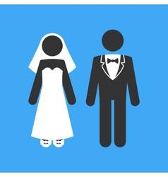 Wedding couple marriage invitation template vector