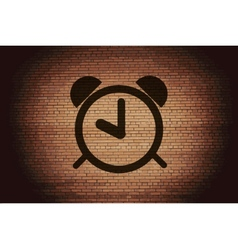 Alarm clock flat modern web button and space for vector
