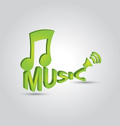 3d music note 2 vector