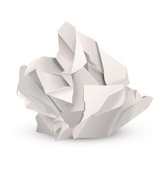Crumpled paper ball vector