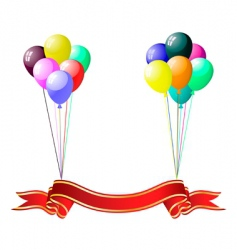 Colourful balloons with glare vector