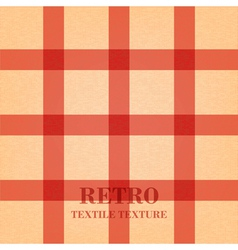 Retro textile background with red stripes vector