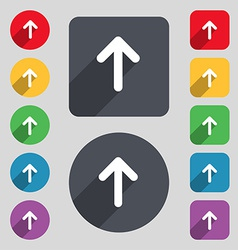 Arrow up this side up icon sign a set of 12 vector