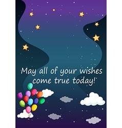 Birthday wish vector