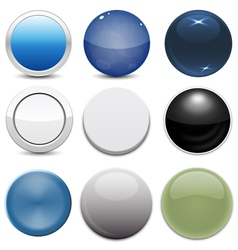 Set of 9 button styles vector