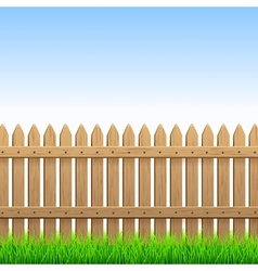 Wood fence vector