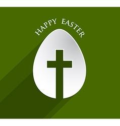 Cross easter egg vector