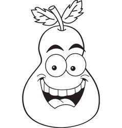 Cartoon smiling pear vector