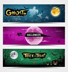 Happy halloween banners collections vector