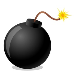 Bomb cartoon vector