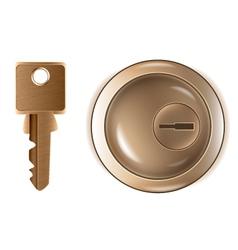 Keyhole and key vector