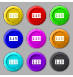 Dj console mix handles and buttons icon symbol vector