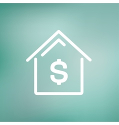 House mortgage thin line icon vector