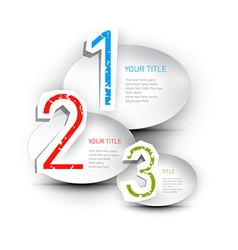 One two three paper progress steps for tutorial vector