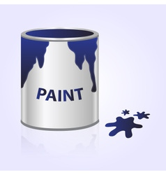 Paint can blue eps10 vector