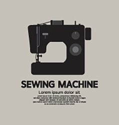 Single sewing machine black graphic vector