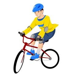 Boy riding a bicycle vector