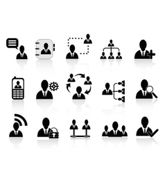 Black social communication icons vector