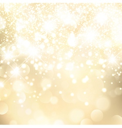 Holiday golden background vector