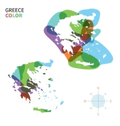 Abstract color map of greece vector