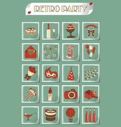 Birthday icon set vector