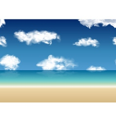 Summer view seamless sea background vector