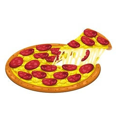 Pizza hawaiian slice vector