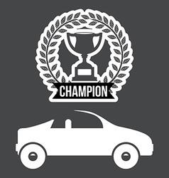 Racing school design vector