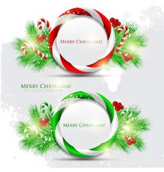 Abstract glossy speech bubble with christmas candy vector
