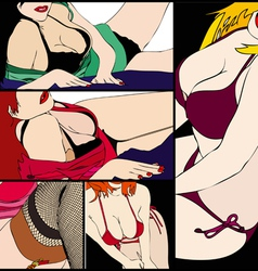 Female sensuality collection vector