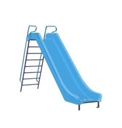 Childrens slide light blue vector
