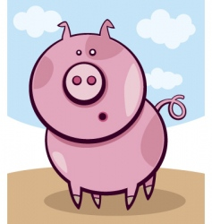 Surprised pig vector