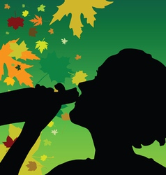 Girl drink alcohol color vector