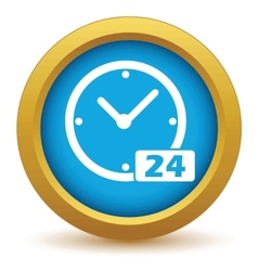 Best gold clock icon vector