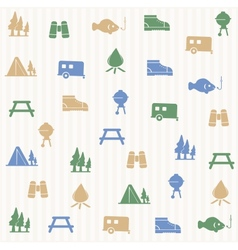 Outdoors activity seamless pattern vector