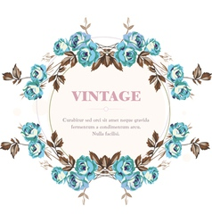 Vintage roses frame vector