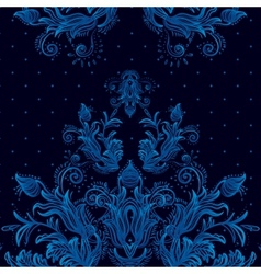 Vintage background baroque pattern vector