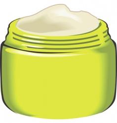 Cream container vector