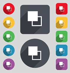 Active color toolbar icon sign a set of 12 colored vector