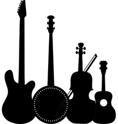 Instruments black vector
