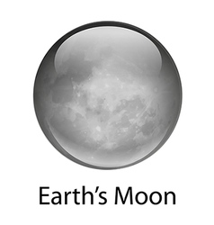 Earth moon vector