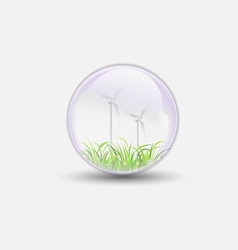 Wind power bubble water clear vector