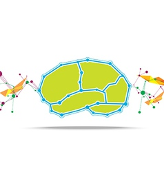 Brain abstract background vector