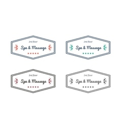 Spa and massage logo templates vector
