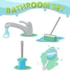 Bathroom symbol icon set d vector
