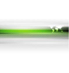 Green white hi-tech background vector