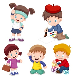 Kids characters vector