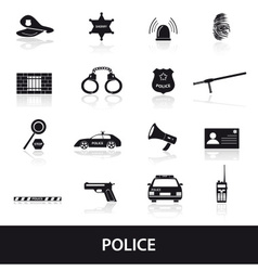 Police icons set eps10 vector